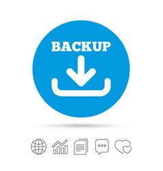 Backup date sign icon storage symbol vector