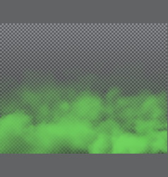 bad smell green smoke and poison clouds background vector image