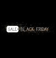 black friday sale tag message holiday discount vector image