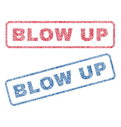 Blow up textile stamps vector