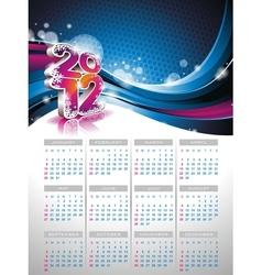 Calendar design 2012 on blue background vector