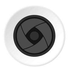 Camera lens icon circle vector