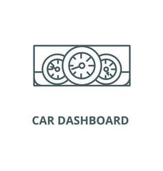 car dashboard line icon car dashboard vector image