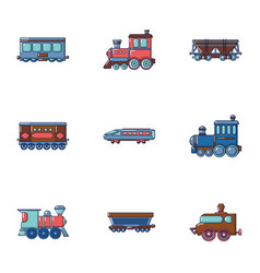 carriage icons set cartoon style vector image