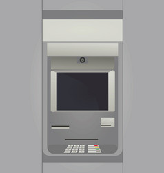 cash deposit machine atm vector image