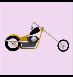 Chopper custom motorbike icon vector