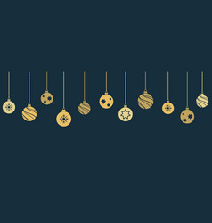 christmas and new year banner with hanging vector image