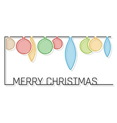 Christmas card with shaded balls vector