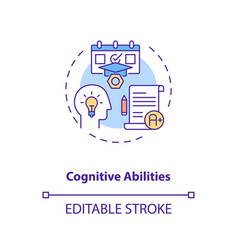 Cognitive abilities concept icon vector