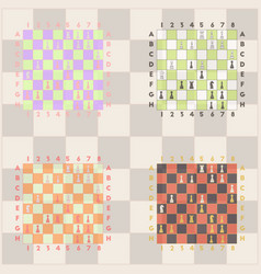 Collection of chess boards the various chess vector