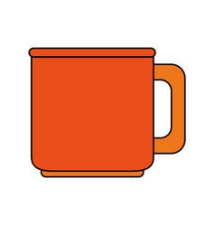 Color image porcelain mug of crockery vector
