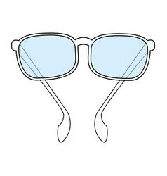 Color silhouette image sunglasses fashion accesory vector
