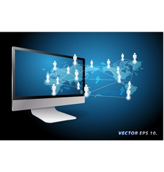 Communication in global computer networks vector