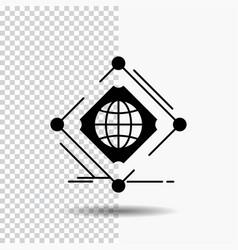 Complex global internet net web glyph icon on vector