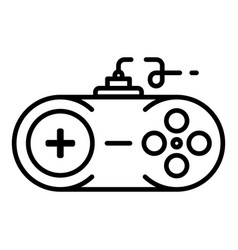Console joystick icon outline style vector