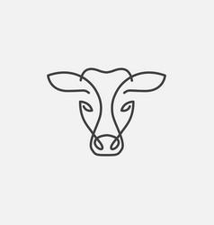 Cow head logo icon vector