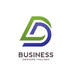 dd letter logo design vector image