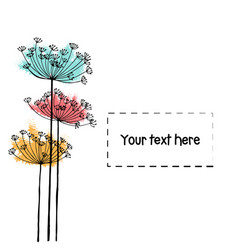 Design of hand drawn doodle flowers set for your vector