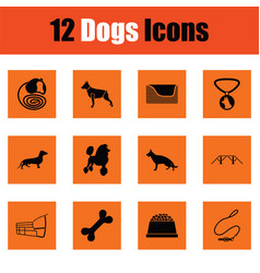 Dogs icon set vector