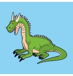 Dragon and videogame design vector image