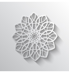 Elegant paper retro floral wreath Hand drawn vector