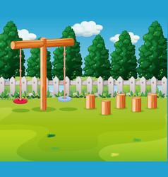 Empty playground outdoor scene vector