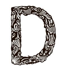Floral font D vector