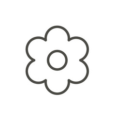 flower icon outline floral line spring sy vector image