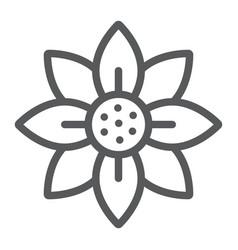 flower line icon blossom and flora floral sign vector image