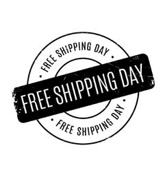 Free Shipping Day rubber stamp vector image