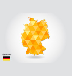 geometric polygonal style map of germany low poly vector image