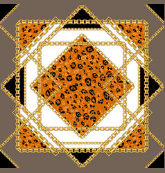 Geometry and animal skin pattern vector