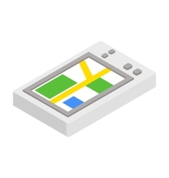 GPS phone 3d isometric icon vector