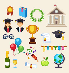 Graduation education univercity or school vector