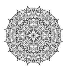 Graphic lattice circle ornament vector
