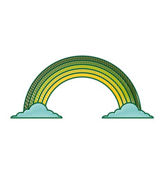 Green rainbow color cloud magic fantasy vector