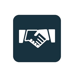 Handshake icon Rounded squares button vector image