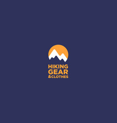 hiking gear and clothes mountain logo vector image