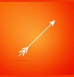 hipster arrow icon isolated on orange background vector image