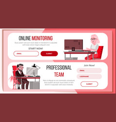horizontal banners website design business vector image