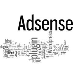 How to display adsense on wordpress with adsense vector