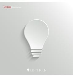 Light bulb icon - web background vector image
