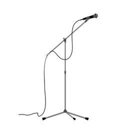 microphon stand vector image