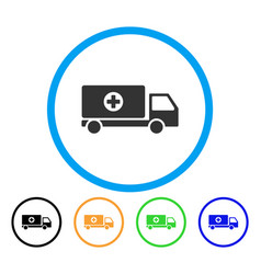 Mobile hospital automobile rounded icon vector