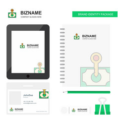 money business logo tab app diary pvc employee vector image