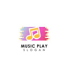Music play logo design play media icon symbol vector