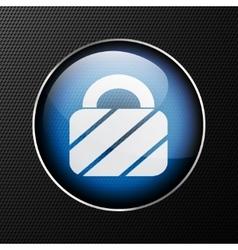 padlock web icon background vector image