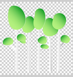 paper tree flat icon tree forest on isolated vector image