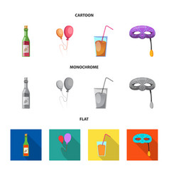 party and birthday sign vector image
