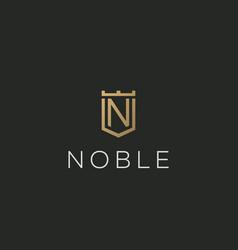Premium monogram letter n initials logotype vector